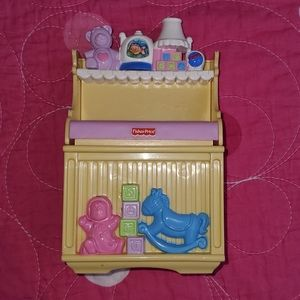 Fisher Price 2007 Loving Family Changing Table Toy